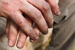 Werkende handen Stock Foto's