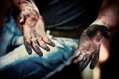 Werkende handen Stock Afbeeldingen