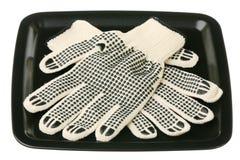 Werkende handschoenen Stock Foto