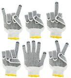 Werkende handschoenen, tekens en gebaarreeks Royalty-vrije Stock Fotografie