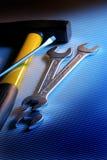 Werkende hulpmiddelen Stock Foto's