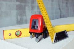 Werkende hulpmiddelen voor meting Stock Fotografie