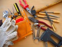 Werkende hulpmiddelenachtergrond stock afbeeldingen