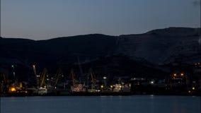 Werkende koopvaardijhaven van Novorossiysk stock videobeelden