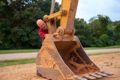 Werkende mens Stock Foto