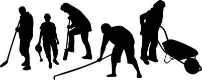 Werkende mensen vector illustratie