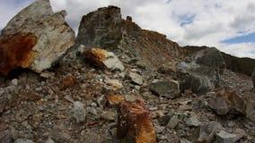 Werkende mijnbouwmachines