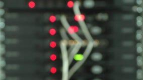 Werkende netwerkapparatuur stock videobeelden