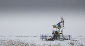 Werkende olie en gasput Stock Afbeelding