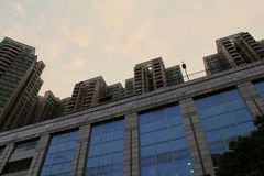 Werkende plaats in Guangzhou-Stad stock foto