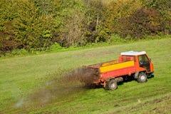 Werkende tractor Royalty-vrije Stock Afbeeldingen