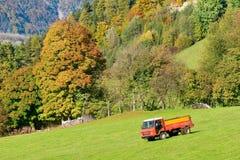 Werkende tractor Royalty-vrije Stock Foto's