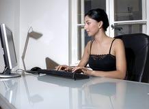 Werkende vrouw Royalty-vrije Stock Foto