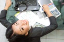 Werkende vrouw Stock Foto's