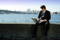 Werkende zakenman royalty-vrije stock foto