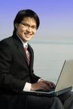 Werkende zakenman Stock Foto