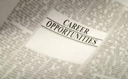 Werkgelegenheid - carrière Stock Foto