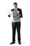 Werkgever bij lezing Royalty-vrije Stock Foto