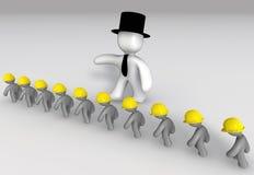 Werkgever en Arbeiders royalty-vrije illustratie