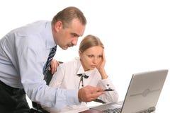 Werkgever en een secretaresse Stock Afbeelding