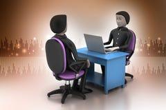 Werkgever en kandidaat, baan het huren concept Royalty-vrije Stock Foto's