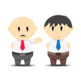 Werkgever en Werknemer Stock Foto