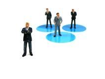 Werkgever en werknemers Stock Afbeeldingen