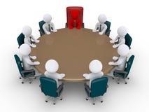 Werkgever en zakenlieden in een vergadering royalty-vrije illustratie