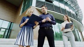 Werkgever en zijn medewerkers Stock Foto's