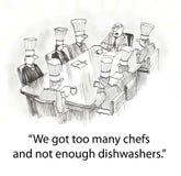 Werkgever met chef-koks Stock Foto