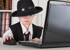 Werkgever met hoed Royalty-vrije Stock Afbeelding