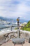 In werking gesteld muntstuk binoculair bij het gezichtspunt in Monaco, Frankrijk Royalty-vrije Stock Afbeelding