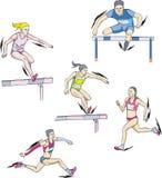 In werking gestelde atletiek - vector illustratie