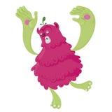 Lopend roze monster Royalty-vrije Stock Foto