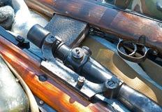 Werkingsgebied opgezet op een geweer Royalty-vrije Stock Afbeeldingen