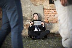 Werkloos royalty-vrije stock foto's