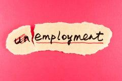 Werkloosheid aan werkgelegenheid Stock Foto