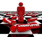 Werkloosheid - de Laatste Status van de Mens vector illustratie