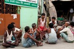 Werkloosheid in India Stock Foto