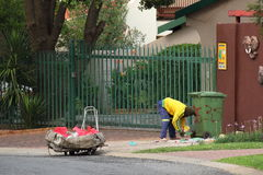 Werkloosheid in post-apartheid Zuid-Afrika Royalty-vrije Stock Foto's