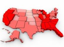 Werkloosheidscijfers - de Kaart van Verenigde Staten Royalty-vrije Stock Afbeeldingen