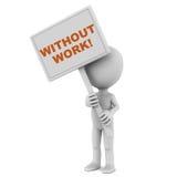 Werklozen zonder het werk stock illustratie