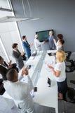 Werknemers grote conclusie van overeenkomst stock foto's