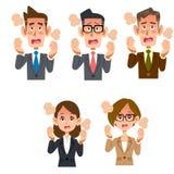 Werknemers mannelijke en vrouwelijke koorts royalty-vrije illustratie