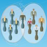 Werknemers in twee reeksen royalty-vrije illustratie