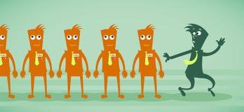 Werknemers van de zombie Stock Foto's