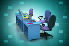 Werkplaats met computer Royalty-vrije Stock Foto