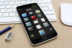 Werkplaats met mobiele telefoon Royalty-vrije Stock Afbeelding