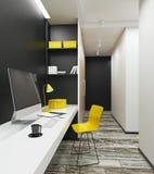 Werkplaats met schone computer in eigentijds binnenland Royalty-vrije Stock Foto's