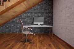 Werkplaats onder trap Royalty-vrije Stock Afbeelding